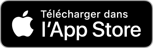 Badge téléchargement de l'application apple